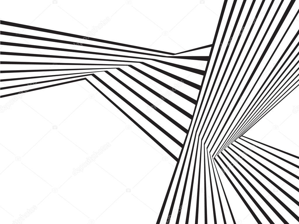 Vague De Mobious Noir Et Blanc Rayé Optique Dessin Abstrait