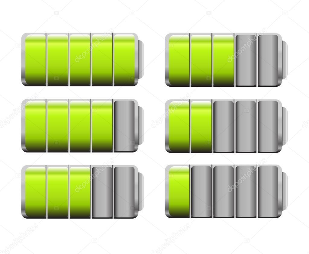Battery Level Indicator Symbols Stock Vector Amudsen 86002070
