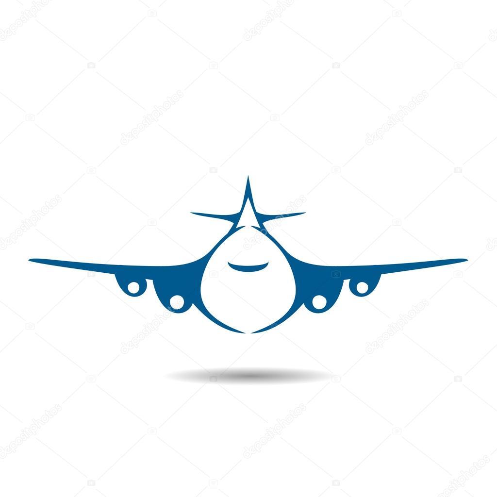 Airplane Symbol Vector Illustration Design Sign Stock Vector
