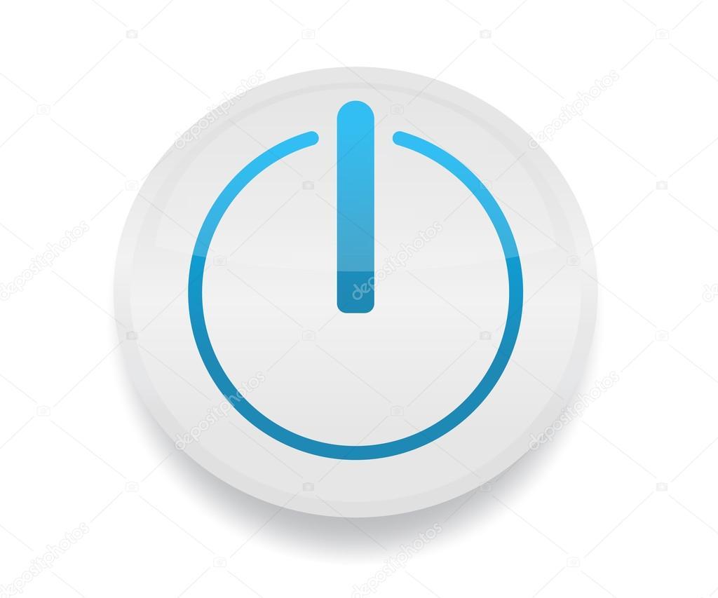 Button w power symbol on circles start begin initiate play button w power symbol on circles start begin initiate play icon vector by amudsen biocorpaavc Choice Image