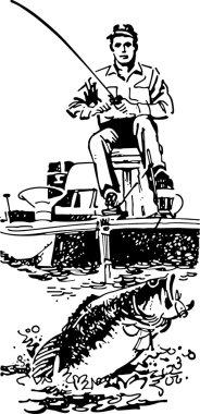 Bass Fisherman In Boat
