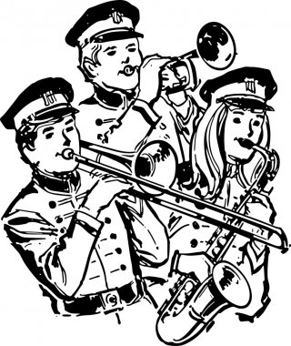 Retro High School Band