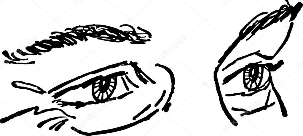 a pair of eyes stock vector retroclipart 107992054