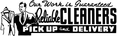 Reliable Cleaners clip art vector