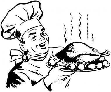 Chef With Roast Poultry