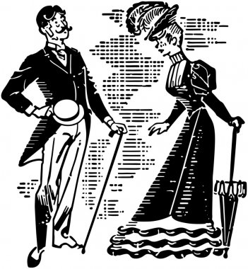 Victorian Couple Courting