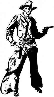 Cowboy Drawing Pistol