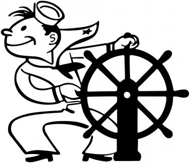 Sailor At Helm