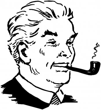 Man Smoking Pipe