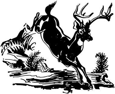 Leaping Deer