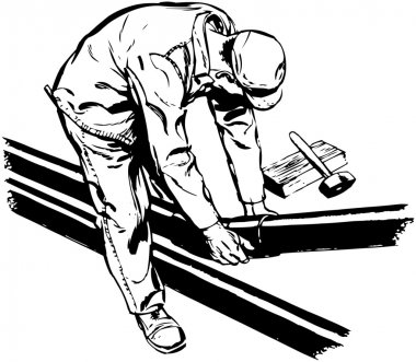 Worker Fitting Pipes