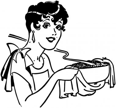 Lady With Casserole