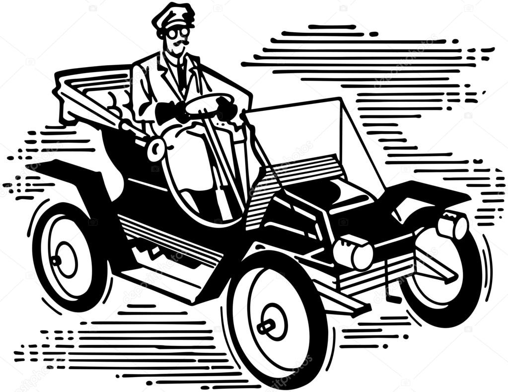 Old Fashioned Car — Stock Vector © RetroClipArt #55668003