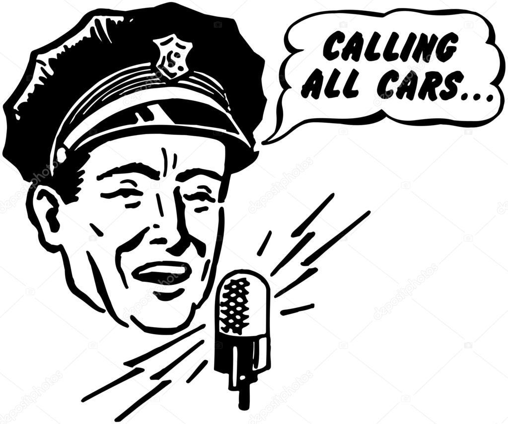 Police Dispatcher — Stock Vector © RetroClipArt #55669005