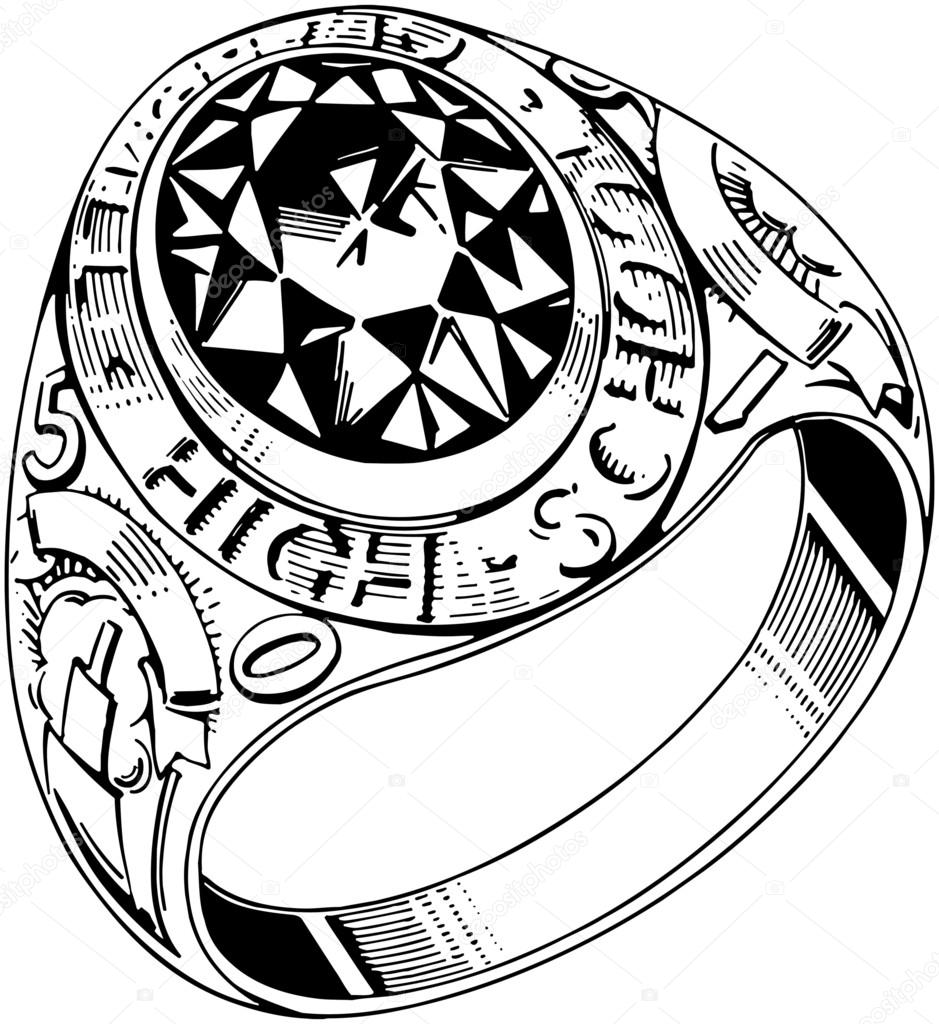 Grad Ring Round Stock Vector 169 Retroclipart 55669333
