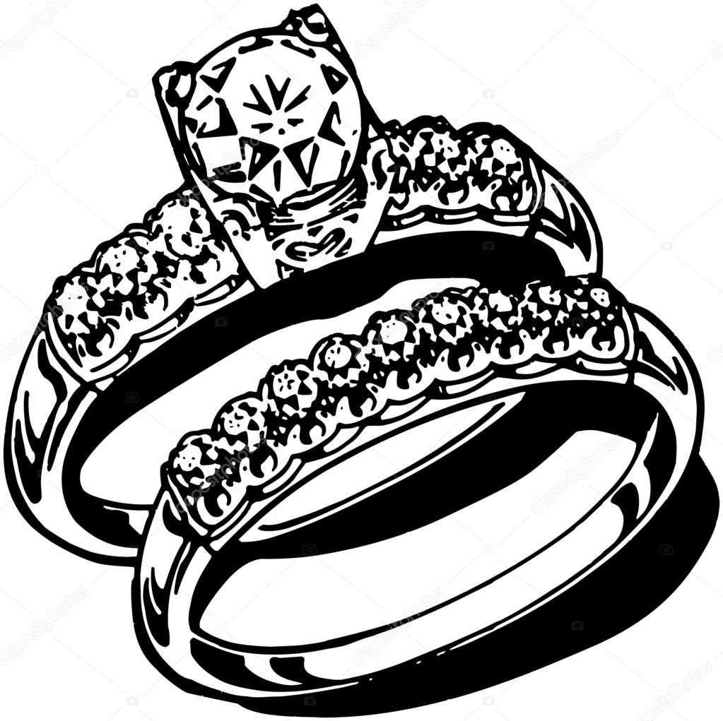Wedding Rings Stock Vector RetroClipArt 55669357