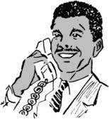 Fotografie muž na telefonu