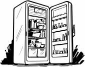 otevřít lednici