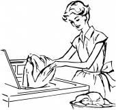 Lady načítání podložka
