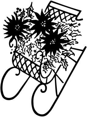 Sleigh With Poinsettias