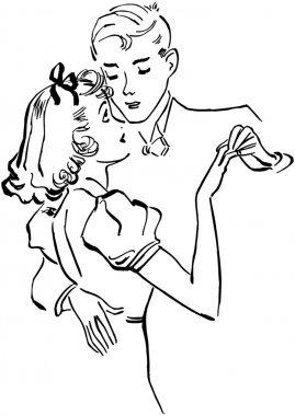 Teen Couple Slow Dancing
