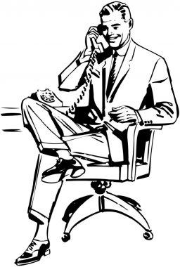 Man In Office Chair clip art vector