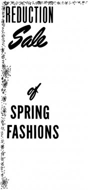 Reduction Sale Of Spring