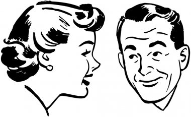 Man And Woman Chatting