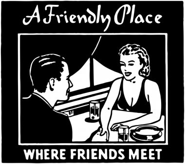 A Friendly Place Retro  Banner