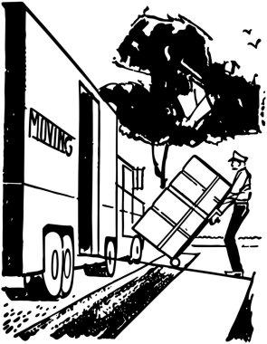 Man Loading Moving Van