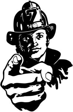 Pointing Fireman