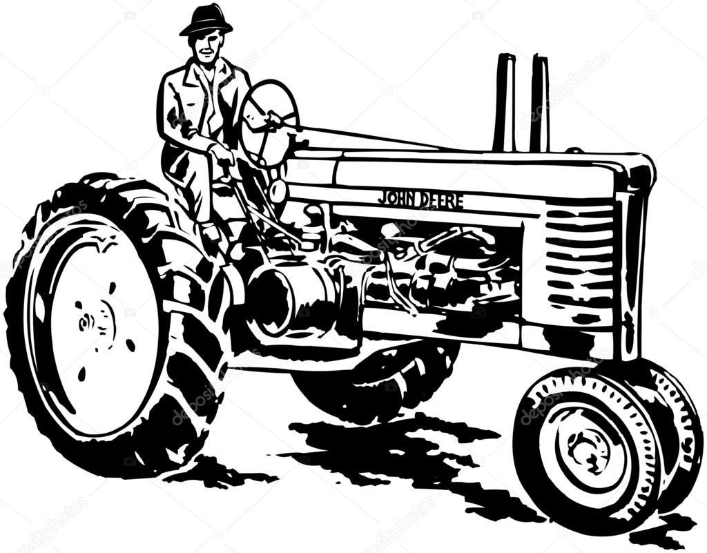 Antique Tractor Silhouette : John deere tractor silhouette pixshark images