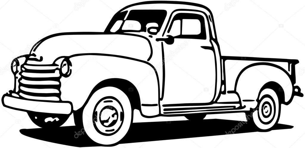 chevy pickup truck  u2014 stock vector  u00a9 retroclipart  55675317