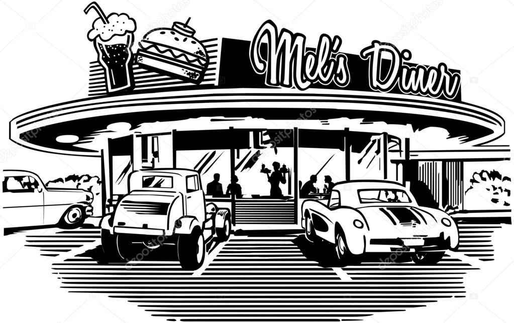 Retro Diner — Stock Vector © RetroClipArt #55676767