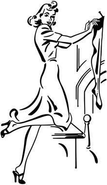 Drawn Girl Hanging Stocking