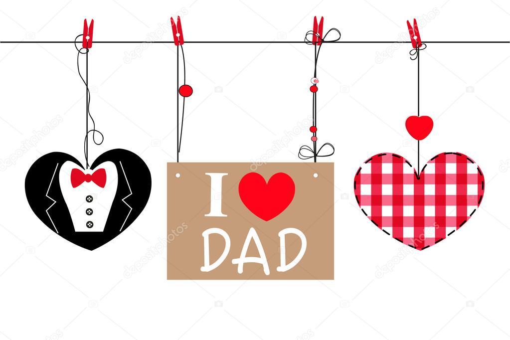 Fondo Dia Del Padre: Feliz Tarjeta De Felicitación Día Del Padre Con Colgante