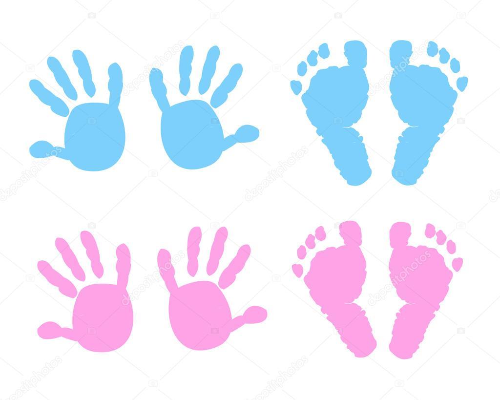 beb u00e9  beb u00e9 imprimir pies y manos vector ilustraci u00f3n baby footprints clipart black and white baby footprint clipart border free