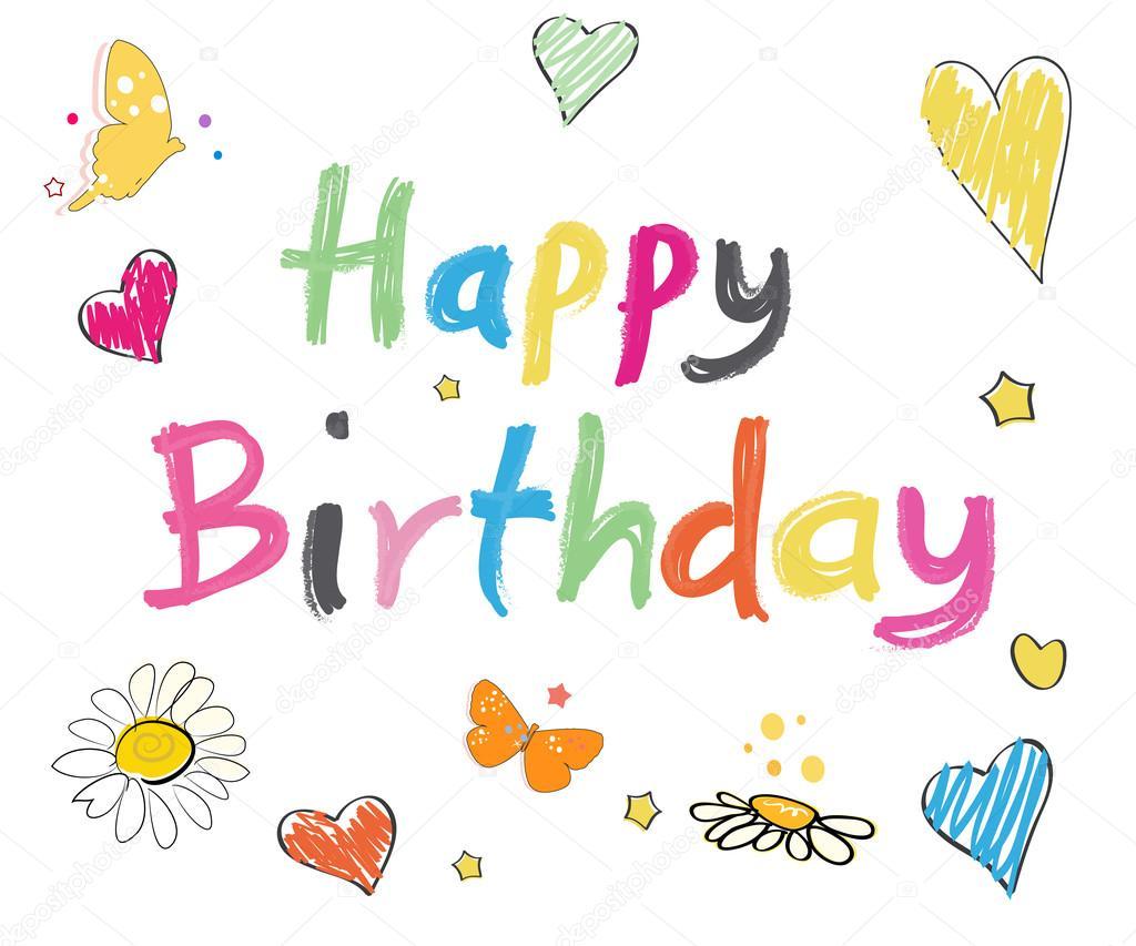 Eccezionale Cartolina d'auguri di buon compleanno. ' Happy birthday ' testo  SK13