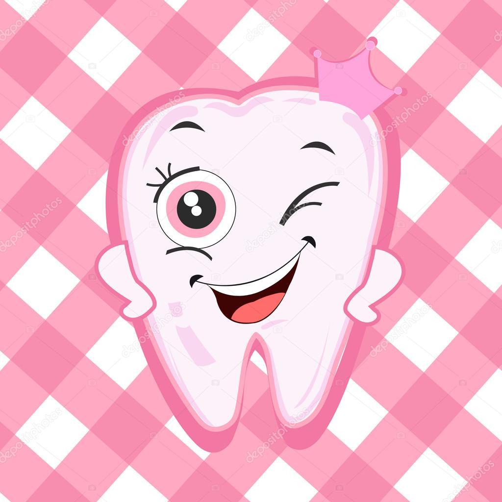 открытка с первыми зубами