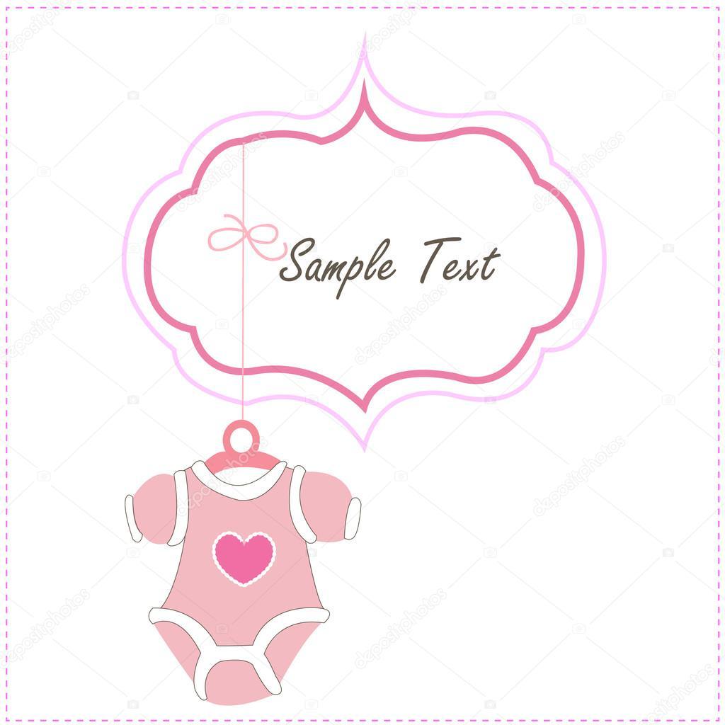 Baby Karte hängen Baby Baby Kleidung Symbole — Stockvektor ...