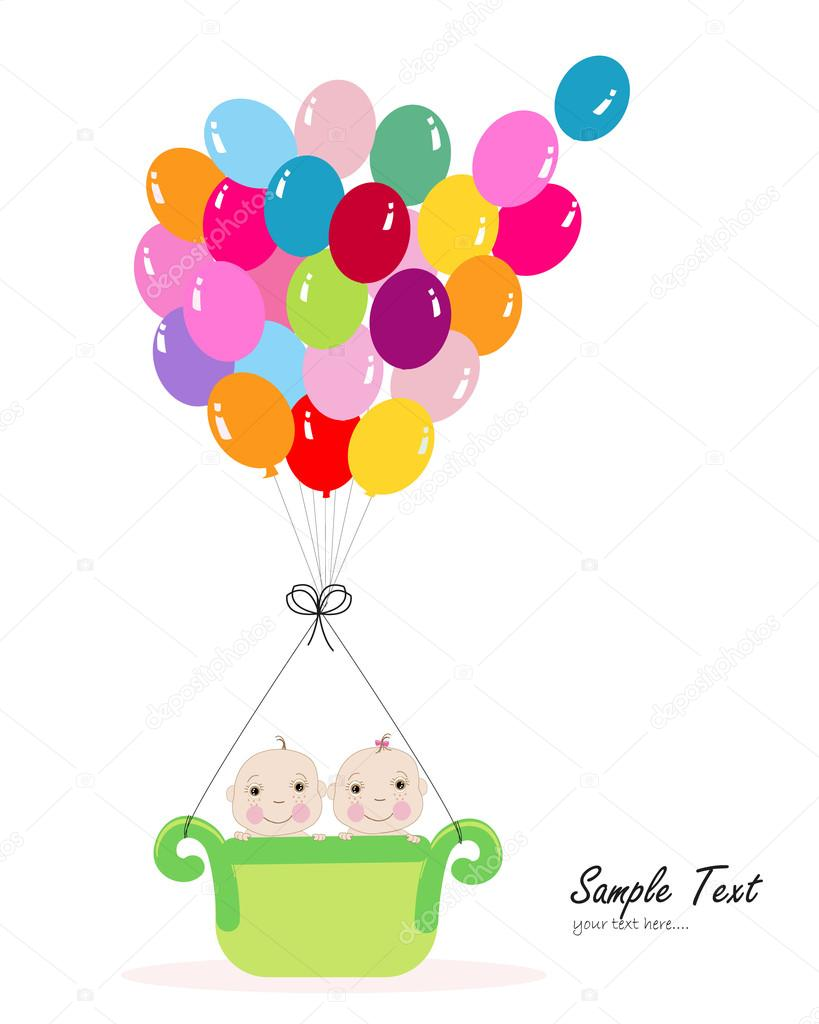 Happy first birthday greeting card with balloons stock vector happy first birthday greeting card with balloons stock vector m4hsunfo
