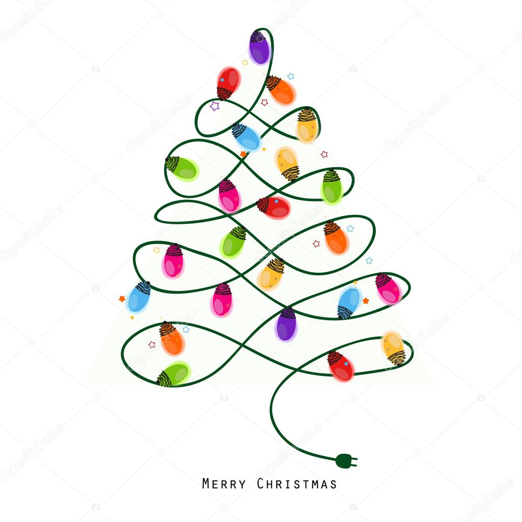 String Lights Christmas Tree