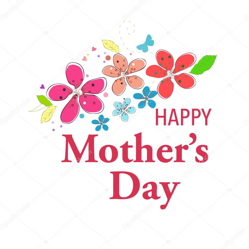 Happy mothers day greeting card with colorful spring flowers happy mothers day greeting card with colorful spring flowers vector background stock vector kristyandbryce Image collections