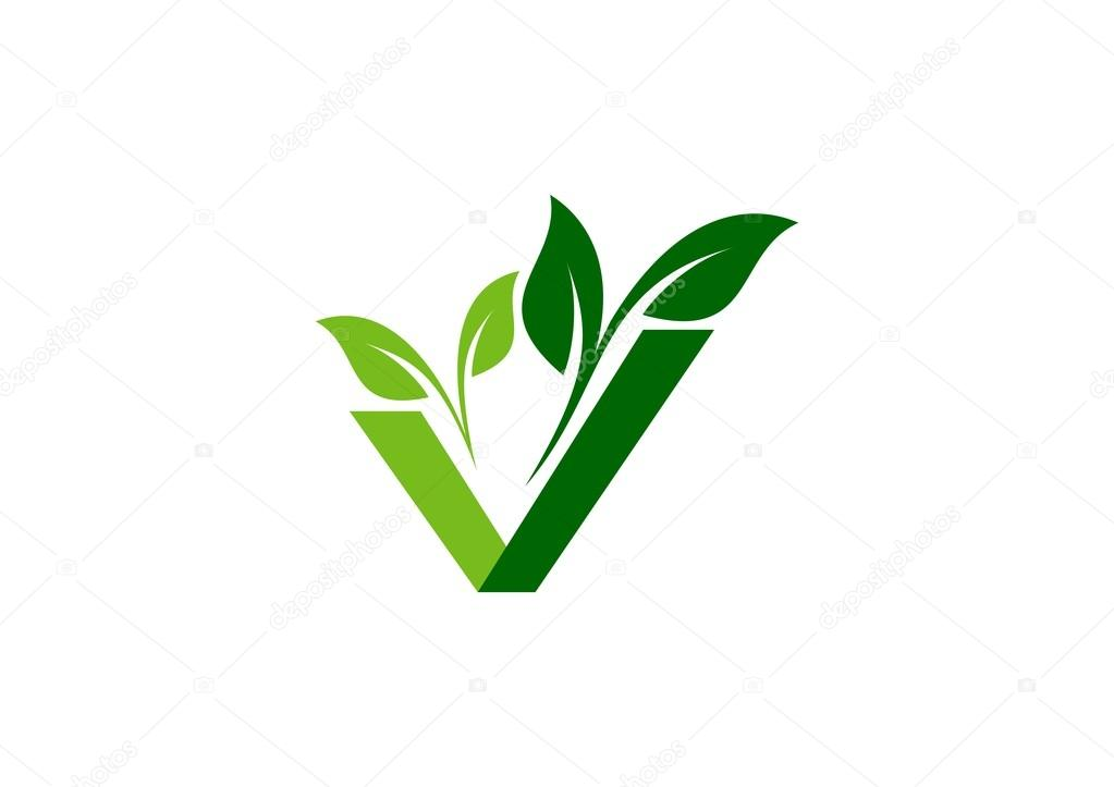 Vegan Plant Ecology Logo Green Natural Vegetable Logotype Sign