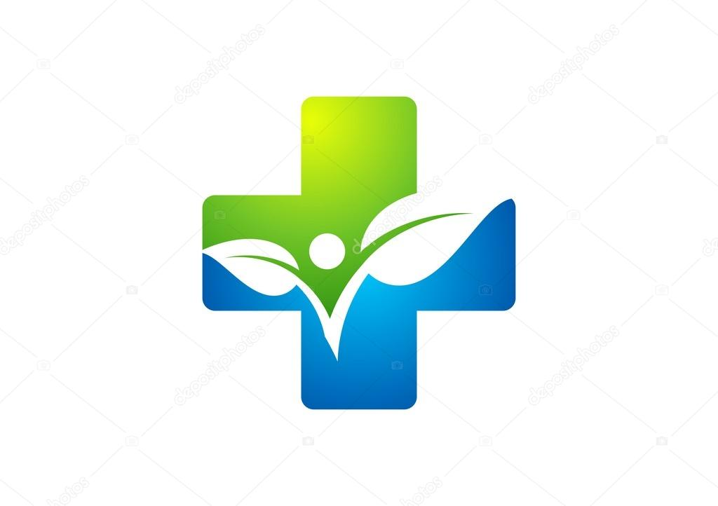 Medicine Health Iconcross Plant Logoplus Nature Symbolpeople