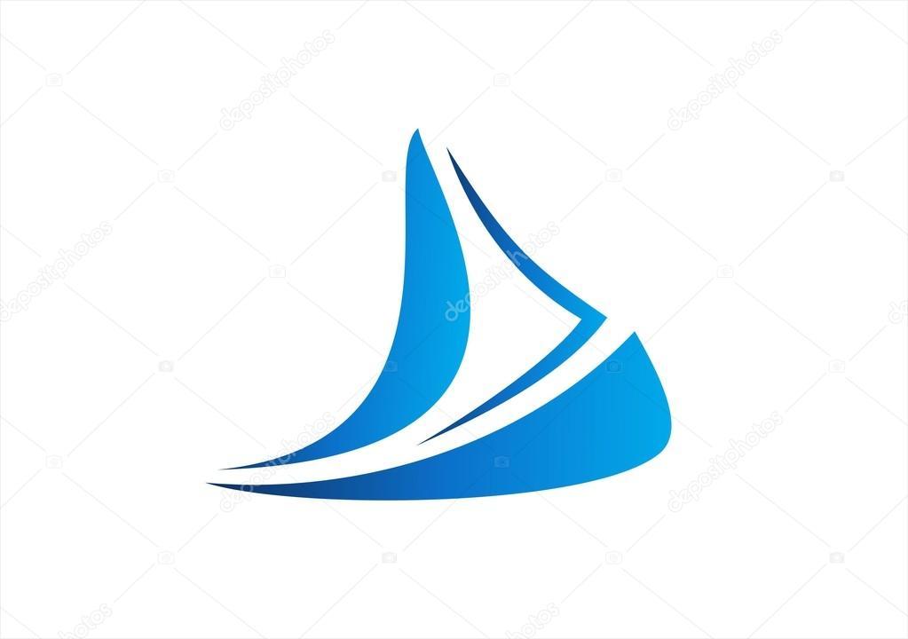 Sailboat cruise business logo boat icon wind sea travel ...