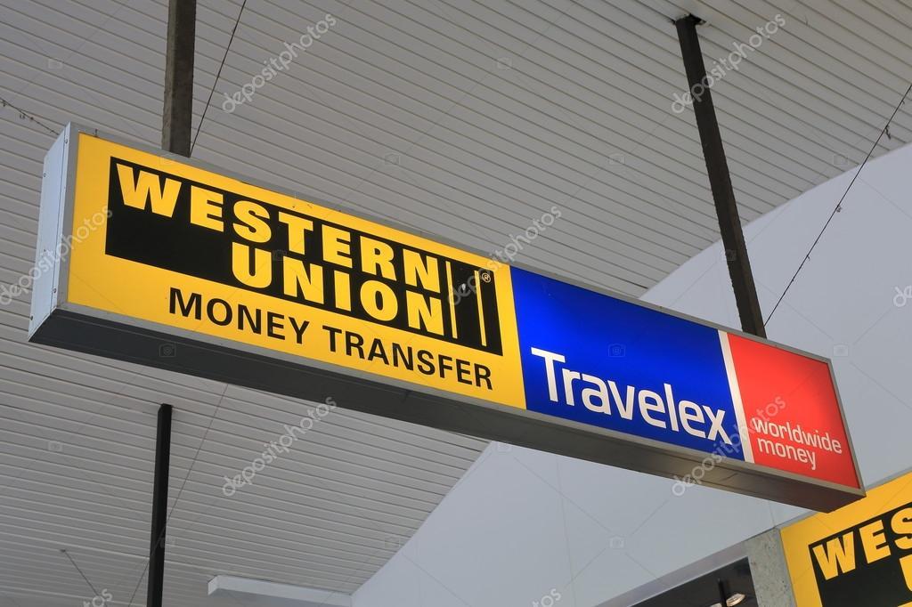 Western Union Travelex currency exchange transfer – Stock