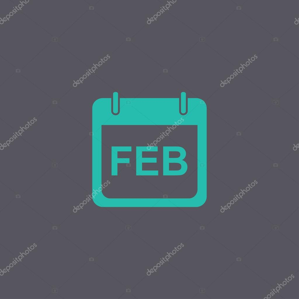 Calendario semplice icona del design moderno stile piano for Design semplice del garage