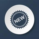 byt nový popisek ikony, vektorová ilustrace