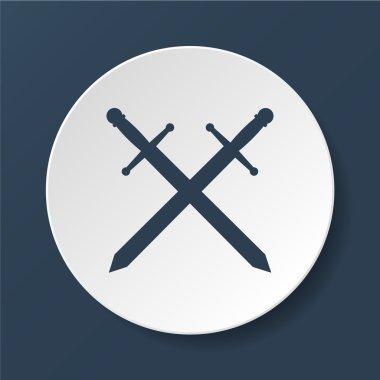 sword icon vector beautiful